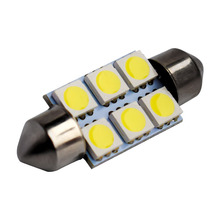 Super White 31mm 36mm 39mm Festoon 5050 SMD 6 LED C5W Auto Interior Dome Door Light Lamp Bulb Car Pathway lighting 12V Work Lamp