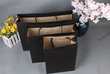 10pcs Black paper Kraft Paper Bag with Handle Party Gift Paper Bags Rustic Wedding Birthday Candy Favor Baby Shower
