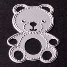 Craft Paper Dies Teddy bear mold cutting dies Halloween Holiday scrapbook embellishments