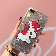 Buy Flowing Bling Quicksand Phone Case iphone 7 8 plus Cover Cute Cartoon Unicorn Liquid Case iphone 6 6s plus Coque capa for $2.73 in AliExpress store