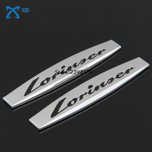 1pair/set Car Modification 3D Auto Decals Side Fender Stickers Badge EmblemFor Mercedes Benz lorinser Logo w204 w203 w211 w210 - XD Autoparts Store store