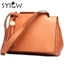 SYIGW Full leather handbags wholesale bag leather shoulder bag new large capacity high-end brand bag