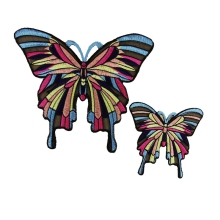Hoomall 2PCs/Set Butterfly Sew On Patches Big Applique DIY Clothing Embroidered For Jeans T-Shirt Bags Fabric Sewing Accessories(China)