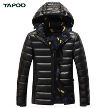 Tapoo Mens Down Coats Polyester Winter Jackets Thick 90% White Duck Down Casual Outerwear Windproof Handsome Plus Size M-4XL