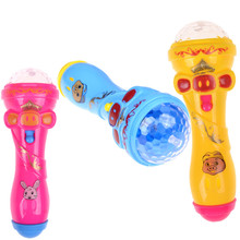 1pcs Creative Kids Luminous Toys Microphone Singing Funny Gift Music Toy Flash Light Up Toys Color Randomly(China)