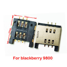 High quality micro sim card reader For blackberry 9800 Q5 Q10 tray slot socket replacement connector(China)