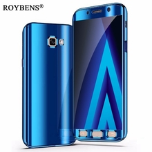 Buy Mirror 360 Phone Case Samsung Galaxy A7 2017 A720 Luxury Bling Ultra Thin PC Plating Cover Samsung Galaxy A5 2017 A520 for $4.49 in AliExpress store