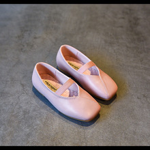 Autumn new children grandmother shoes little girl flat shoes dance shoes for girls children genuine leather shoes kids footwear(China)