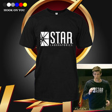 The Flash Man T Shirts Men star laboratories Man t shirt sportwear Mens Tees Cotton O Neck game Tops Free Shipping