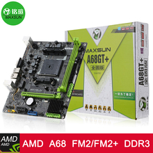 MAXSUN MS-A68GT+ Computer Gaming Motherboard Desktop Mainboard Systemboard for AMD A68 FM2/FM2+ Socket SATA USB 3.0 DDR3 mATX
