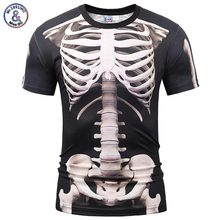 Mr.1991INC Europe America Fashion Men/Women T-shirt 3d Print Skeleton Skulls T-shirt Summer Tops Tees Brand T shirt