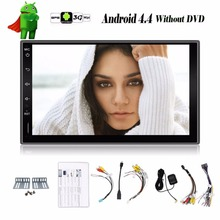 Universal 2 din Android 4.4 Car DVD player GPS+Wifi+Bluetooth+Radio+dual core CPU+DDR3+Capacitive Touch Screen+3G+car pc+aduio