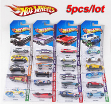 5pcs/lot 100% Hotwheels cars miniatures hot sale Original race cars scale models mini alloy cars toy for boys hobby collection(China)