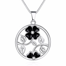Hot new style 925 sterling silver jewelry fashion aesthetic ink flower ladies necklace personalized pendant necklace(China)