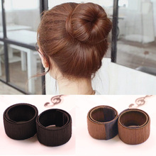 Hair Accessories Synthetic Wig Donuts Bud Head Band Ball French Twist Magic DIY Tool Bun Maker Sweet French Dish Made Hair Band(China)