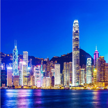 wall paper 3d mural decor photo backdrop Photographic large mural Hong Kong night hotel restaurant wall painting murals