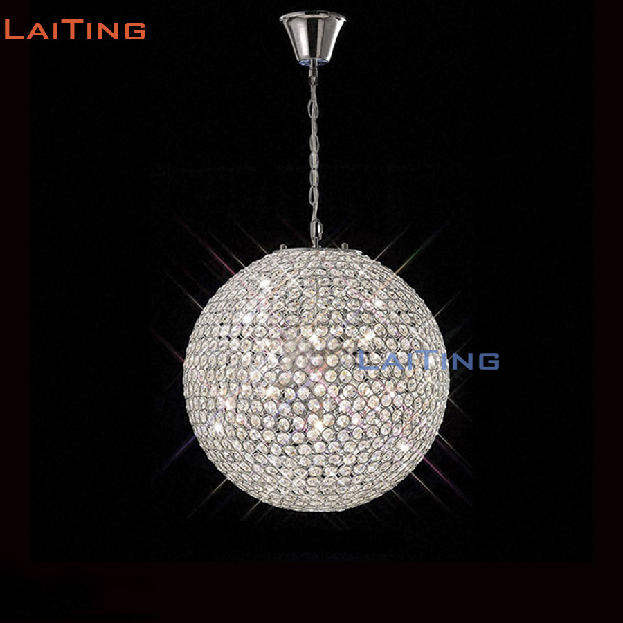 Compare prices on balls glass chandelier online shoppingbuy low laiting dia 16 modern round crystal hanging dining room lamp dia 60cm glass ball chandelier mozeypictures Image collections
