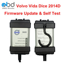 DHL Fast Shipping Vide Dice Pro Diagnostic Scanner For Volvo Cars Software All-in-one 2014D Vide Dice Full Chip Green PCB