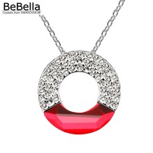 BeBella trendy circle necklace jewelry made with Swarovski ELEMENTS crystals