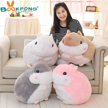 1Pc 45cm Japan fat hamster plush toys lovely doll lying hamsters guinea pigs plush dolls birthday gift for children(China)