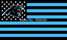 Carolina Panthers Football Team polyester 3' X 5' Flag white sleeve with 2 Metal Grommets double stitched 40047(China)