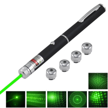 High Power 5mW 532nm Green Laser Pointer Pen Adjustable Focus Burning Beam light Lazer Zoomable Visible With Star Cap