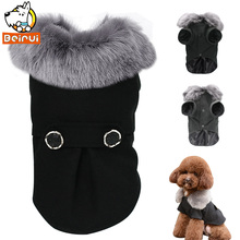Winter Dog Clothes Pet Cat Jacket Coat Hooded Sweater Warm Padded Puppy Apparel for Small Medium Dogs Pets Chihuahua S-XXL(China)