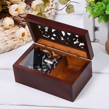 Hot Sale!! Simple Retro Style Mini Vintage Wood Case Music Box Clockwork Music Box Simple Design Nice Gift Size 12 * 7.5 * 5 cm(China)