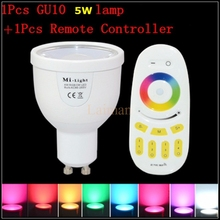 2.4GHz Original Mi.Light Dimmable 110V 220V Mi light CW/WW RGBW RGBWW GU10 5W Smart Milight LED Bulb Lamp Light Remote Control(China)
