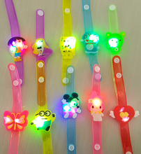 5pcs/lot Baby Cute Creative Cartoon LED Light Up Flashing Glowing Wristband Children Novelty Halloween Party Kids Fun Toys Gifts