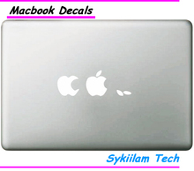 White Logo for apple Creative Eating Sticker Case for Macbook Air 11 13 Pro 13 15 Retina Laptop Computer Vinyl spoof Decal