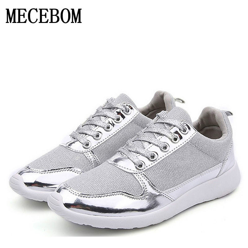 Size 36-41 brand New Chaussure Femme rubber 2017 Women casual Gold Silver mesh woman breathable fashion sport summer shoes 309W<br><br>Aliexpress