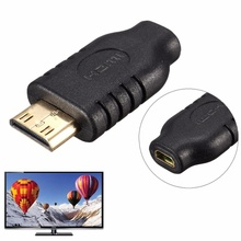 High Quality Gold Plated Micro HDMI D Female to Mini HDMI C Male Adapter for HDTV Smartphone Monitor