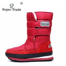 Winter thickening thermal cotton-padded shoes boots women's shoes snow shoes slip-resistant waterproof snow boots cotton
