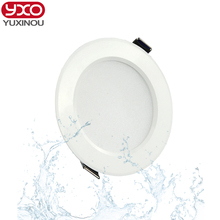 5pcs/lot 7W/9W/12W/15W/18W/24W dimmable waterproof recessed led panel light AC 85-265V LED Ceiling down light Cold/Warm white