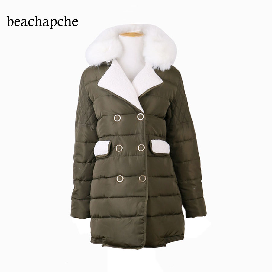 2017 Female Women Winter Coat Double Breasted Winter Jacket Womens Outwear Parkas for Women Winter OutwearÎäåæäà è àêñåññóàðû<br><br>