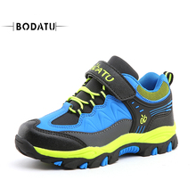 BODATU Outdoor Sneakers for Boys Running Walking Shoes Soft Warm Non-Slip Kids Sport Children Safety Fashion hiking shoesDS1661(China)