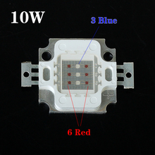 (4pcs/Lot) LED 10W Grow Light Chip Red&Blue LED Plant Lamp Light Source Use For DIY Grow Lamp Free Shipping