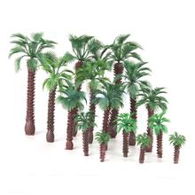 15pcs Mix Size Layout Model Train Palm Trees Scale HO O N Z Layout Scenery(China)
