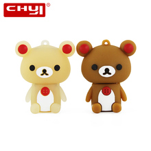 Cartoon Bear Design 8GB 16GB 32GB 64GB USB 2.0 Flash Drive Pen Drive Memory Stick Pendrive Storage Thumb Drives U Disk Gifts(China)