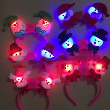 Christmas Light Clap LED Headband Party Festival Glowing Headbands Christmas Toys
