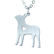 Catahoula Necklace Dainty Pendant Puppy Heart Dog Lover Memorial Pet Necklaces & Pendants Women Christmas Gift Stainless Steel(China)