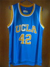 Aembotionen Kevin Love #42 UCLA Retro Throwback Stitched Basketball Jersey Sewn Camisa Embroidery Logos