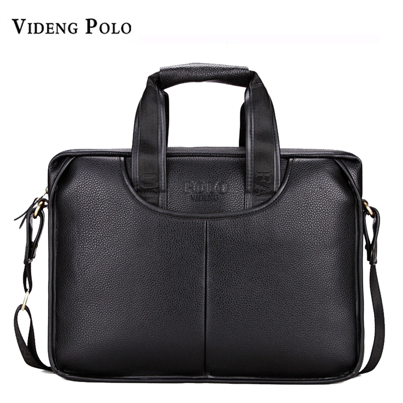 High Quality Leather Men Briefcase Large Capacity Male Business Handbag Gentleman Male Messenger Bag Classic Style<br>
