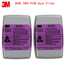3M 7093 P100 respirator mask filters Genuine mask filter PM0.3 particulates Welding dust glass fiber Protective filters(China)