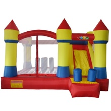 Outdoor Indoor Toys Bouncy House Cama Elastic Inflatable Bouncer For Kids Party Trampoline For Kids With Slide Bounce House(China)