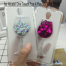 Buy Glitter Quicksand Phone Cases Alcatel One Touch Pop 4 Plus 5.5 5056 5056D Case Bling Soft Silicon Back Cover 3D Capa Fundas for $3.57 in AliExpress store