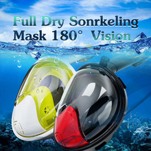 The New Underwater Scuba Diving Mask Anti Fog For Gopro Free Breathing Full Dry Snorkeling Mask Swimming Training Equipment