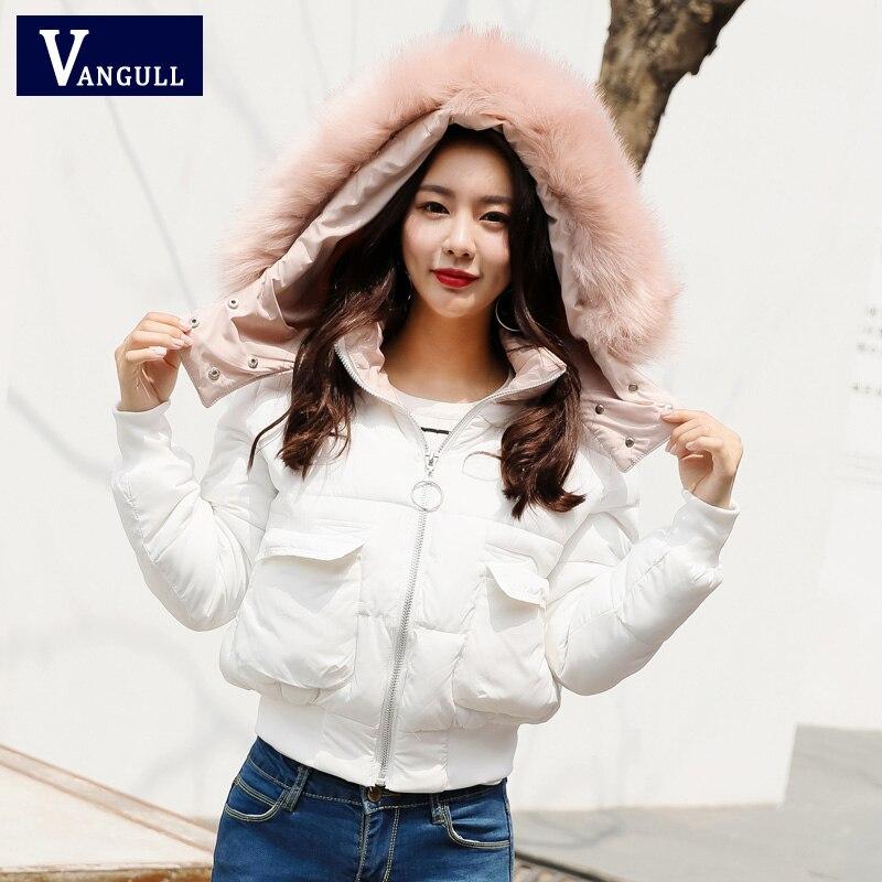 Fashion Snow Wear Large Fur Collar Ladies Coats 2017 Winter warm Coat Women Parka Thick Slim Womens Coats And Jackets OuterwearÎäåæäà è àêñåññóàðû<br><br>