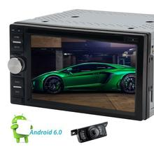 Android 6.0 Car DVD Player GPS Navigation Car Stereo Automotive Audio Video Head Unit support 3g/4g USB SD WIFI Rear View Camera(China)